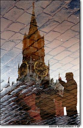 Red Square reflection